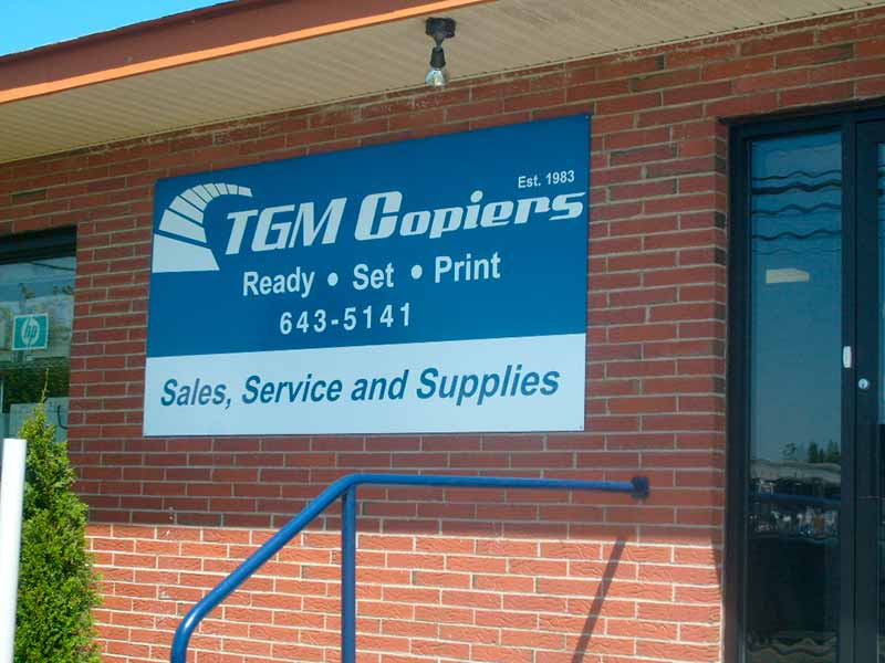 TGM Copiers showroom